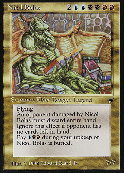 Nicol Bolas is one popular Commander