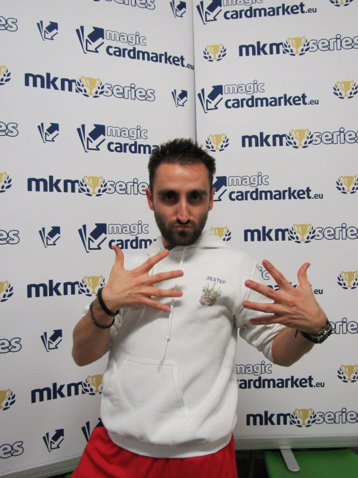 Giacomo Valdrighi was ready for his Top 8 match at the MKM Series Milan!